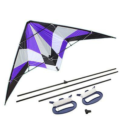 """71"""" Delta Stunt Kite Dual Line Big Wing Span Prism Delta Family Outdoor Play US"""