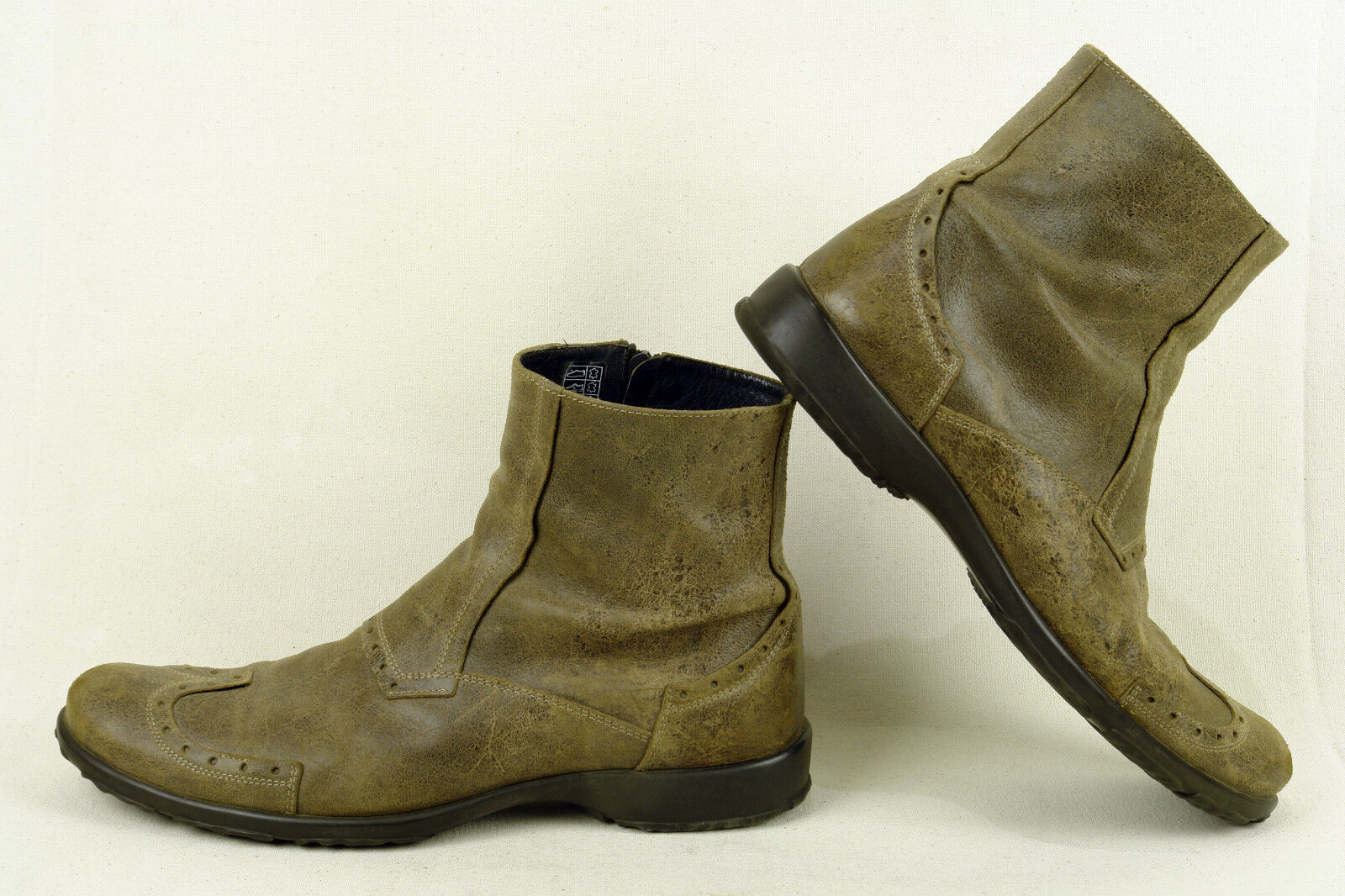 SANDRO CARRA * ITALY * FABULOUS BOOT IN IN BOOT A DUSKY BROWN DISTRESSED * 10 EXCELLENT b53654