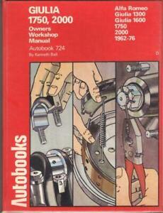ALFA-ROMEO-GIULIA-GTV-DUETTO-SPIDER-1300-1600-1750-2000-WORKSHOP-MANUAL-1962-76