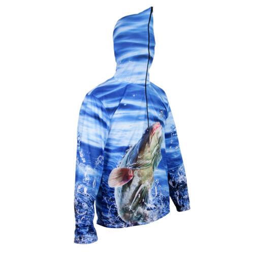 Fishing Shirt UPF 50 UV Sun Protection Long Sleeve Quick Dry Casual Hoodies