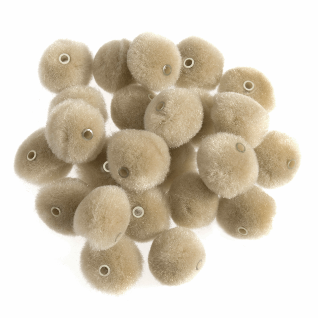 Pom Poms with Threading Hole x 50-12mm Trimits Choice of Colour