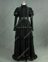 Edwardian Victorian Titanic Lace Gown Dress Steampunk Punk Theatre Colothing 353