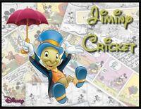 Jiminy Cricket Fridge Magnet. Large 4x5. Disney Comic Logo....free Shipping