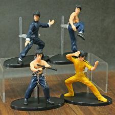 4 Pcs//set Cool Bruce Lee Kung Fu PVC Collection Model Action Figures Toys