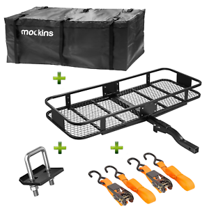 """Mockins Hitch Mount Cargo Carrier And Cargo Bag 60"""" L X 20/"""" W X 6"""" H"""