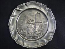 Zinnteller, Burgmotiv, D-23 cm , ReinZinn