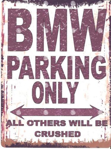 BMW PARKING SIGN RETRO VINTAGE STYLE 6x8in 20x15cm garage workshop art