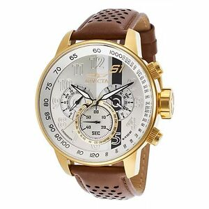 Invicta-S1-Rally-Men-039-s-19287-Gold-Ion-Plated-Stainless-Steel-Case-Quartz-Watch