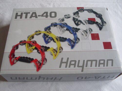 Hayman HTA-40-YE  professional hand tambourine yellow