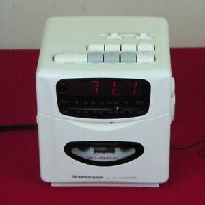 Vintage-Sound-Design-Digital-Clock-Radio-AM-FM-Cassette-Model-3818W