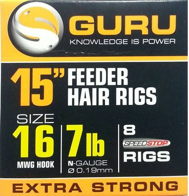 """MWG Hooks Guru 15/"""" Feeder Rigs with Speed Stops All Sizes Available"""