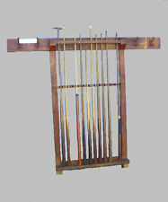 Antique National Billiard Pool Cue Rack Holder – Original finish
