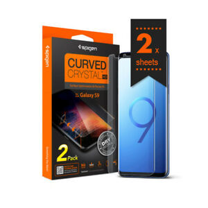super popular c854e 9748a Details about Samsung Galaxy S9 S9 Plus Curved Crystal Screen Protector  Protection Film Spigen
