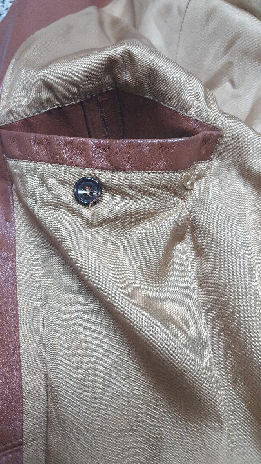 SILTON  Brown Leather 70s  Blazer Sport Coat Siz… - image 10