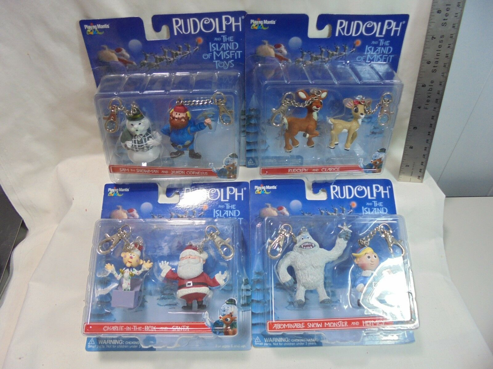 Playing Mantis Rudolph and The Island Of Misfit Toys set of 8 Clarice Hermey Sam