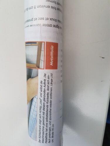 Selbstklebende Folie Tapete Klebefolie Möbelfolie Metall  Optik 1,50m x 45cm