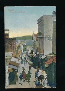 Morocco TANGERS Royal Moorish Bazaar Street Scene c1900/10s? PPC