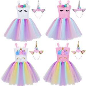 866ff786aec2 Cartoon Costume Kids Girls Outfit Tutu Dress Party Fairy Princess ...