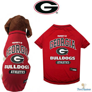 huge selection of b1a23 a6761 Details about NCAA Pet Fan Gear GEORGIA BULLDOGS Dog Shirt for Dogs BIG  SIZE XS-XL