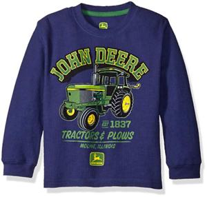 John Deere Boys/' Little Tractors /& Plows All Thermal Tee NWT