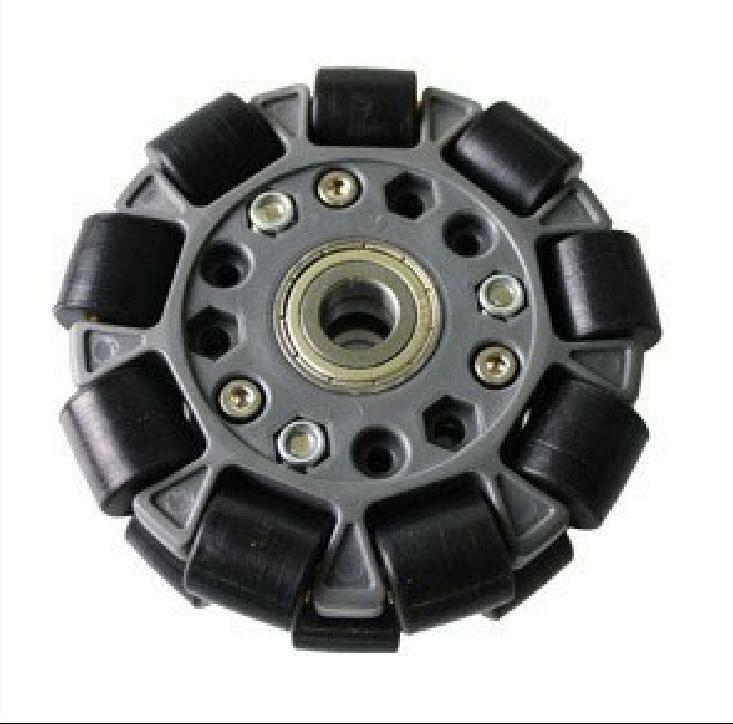 100mm Double Plastic Omni Wheel W Bearing Rollers & Central Bearing 14058