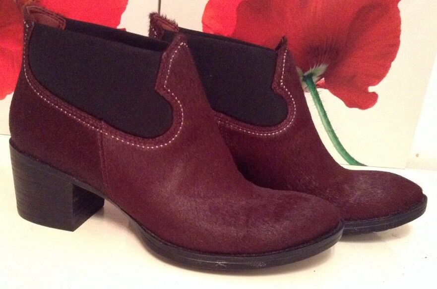 NewCLARKSshoes Size  4.5  MOVIE WISH OX-BLOOD    LEATHER ANKLE BOOTS 37.5EU 3cfb85
