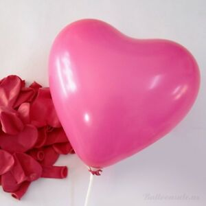 12-inch-100x-Hot-Pink-Colors-Heart-Latex-Thick-Party-Balloons-3-2g-Helium-Float
