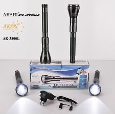 AKARI Rechargeable 1600 Meter Range Torch WITH POWER BANK SYSTEM 1ps(AK-3800L)