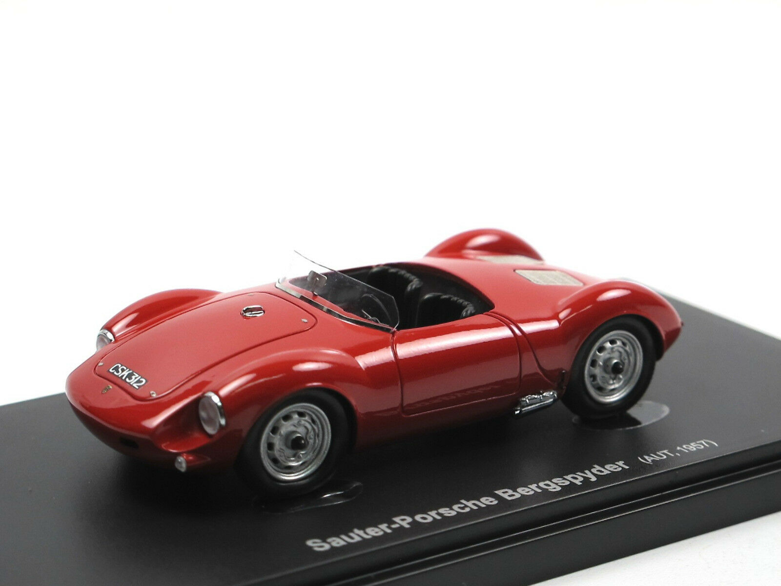 Avenue 43 1957 Sauter -Porsche Bergspyder röta hkonstse 1  43 bilCult modellllerler