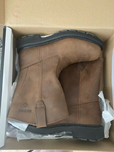 """Mens Wolverine 10"""" Steel Toed Work Boots New In Box Size 9"""