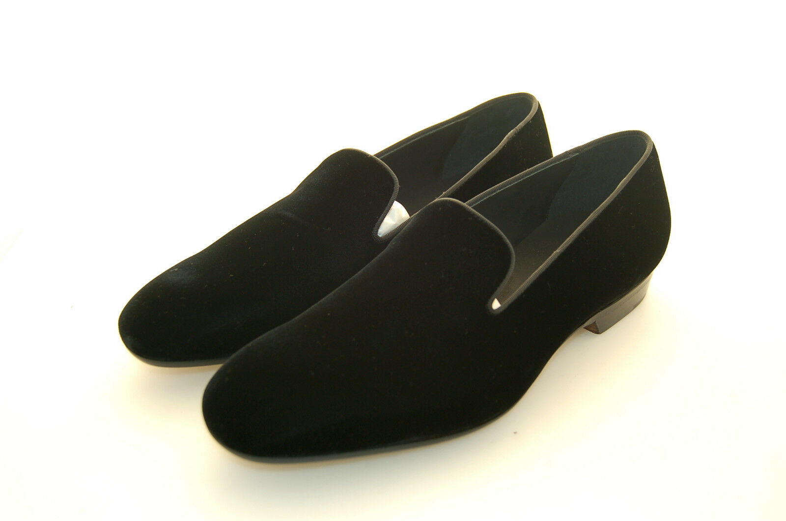 MAN - SLIPPER SLIPPER SLIPPER - PANTOFOLA - schwarz VELVET - VELLUTO schwarz - LEATHER SOLE 8b9354
