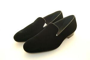 Black Velluto Man Leather Velvet Pantofola Slipper Sole Nero zwEvSH6q