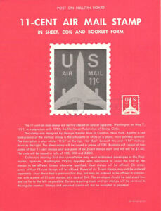 C82-11c-Plane-Coil-Stamp-Poster-Unofficial-Souvenir-Page-Flat