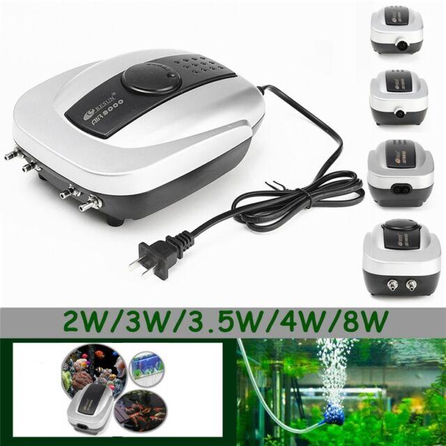220V Super Silent Aquarium Fish Tank Increasing Oxygen Air Pump 1/2/4 Way Outlet