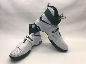71e0ecde64f NEW Nike LeBron Soldier 10 X 856489-130 White Green Size 14.5 Retail ...