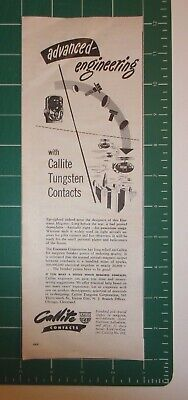 Hard-Working 1945 Callite Tungsten Contacts Advertisement Union City Merchandise & Memorabilia Nj Structural Disabilities