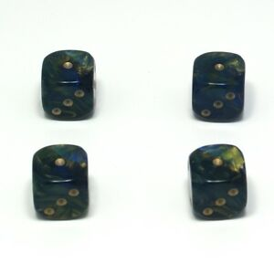 Set-of-Four-Blue-Goldmist-Dice-Dust-Caps-Snake-Eyes-80-039-s-Retro-Valve-Caps