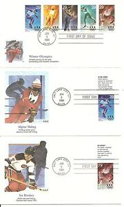US-SC-2807-2811-and-2811a-Winter-Olympics-FDC-Set-Of-6-Fleetwood-Cachet