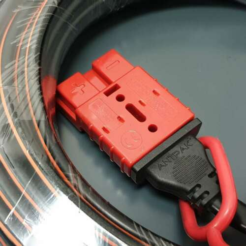 Ready to Use 10m 50Amp Anderson Extension 6mm TwinCore Cable Water Dustproof-RED
