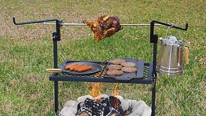 Image Is Loading Outdoor Campfire Cooking Grill Rotisserie Camping Equipment Kitchen