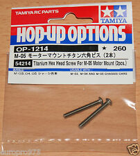 Tamiya 54214 Titanium Hex Head Screw For M05 Motor Mount (2 Pcs.) (M03/M04/M06)