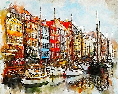 Van Go Paint By Number Kit Amsterdam Canal Landscape Crafts Paint By Numbers Kits