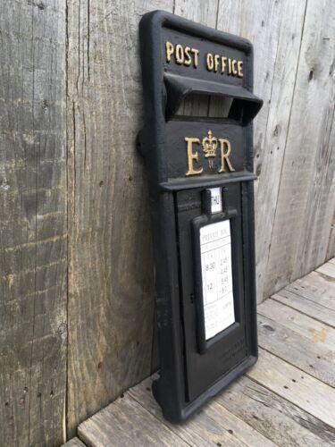 British Royal Mail ER II Black Front Only