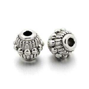 Tibetan Donut Spacer Beads 5mm Antique Silver 30 Pcs Art Hobby Jewellery Making