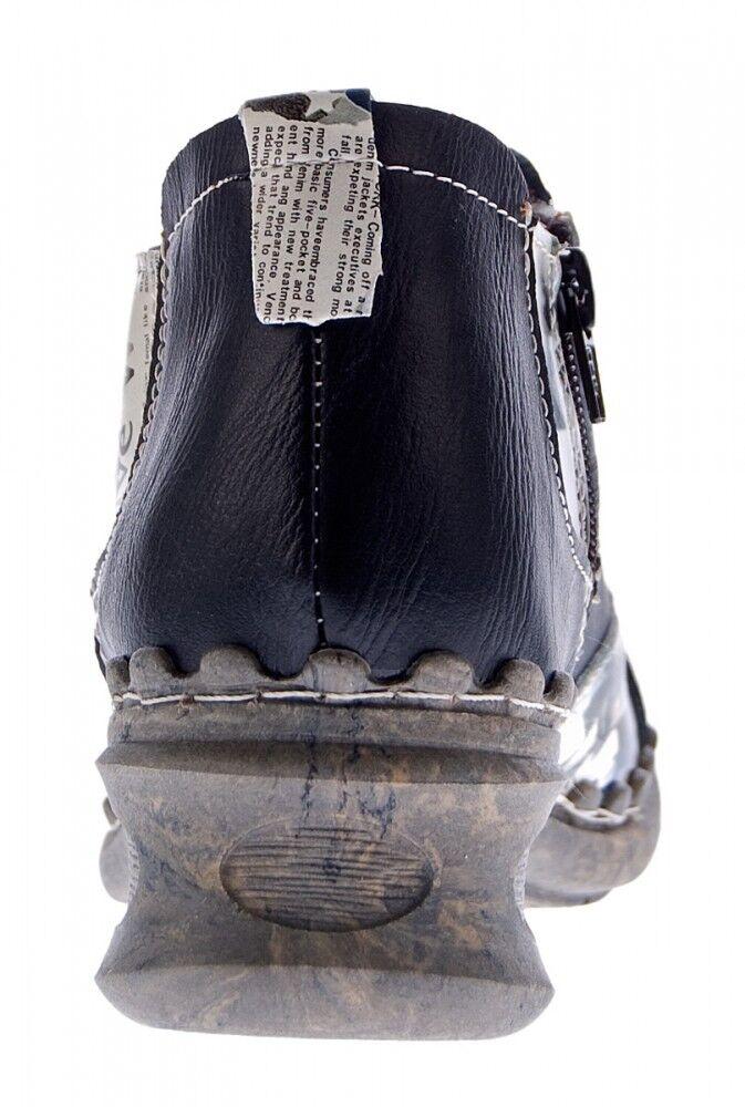 Mujer Zapatos Piel Comfort Tobillo Zapatos Tma 5195 Mitad Zapatos Mujer Negro Gris Azul Botas 2ffa85