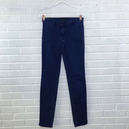 Vince Womens Size 24 Washed Blue Chino Pants Trous