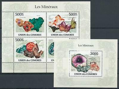 263286) Komoren Klbg. Nr.2632-5+block 562** Mineralien