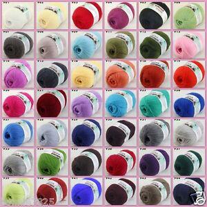Sale-1-ballx50gr-LACE-Soft-Crochet-Acrylic-Wool-Cashmere-Hand-Knitting-Baby-Yarn