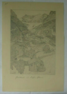 BLEISTIFT ZEICHNUNG Grindelwald vor 1910 ca. 17 x 24,5 cm Karl Ehlers