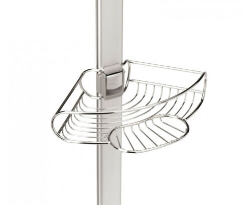 stainless steel anodized aluminum simplehuman tension shower caddy